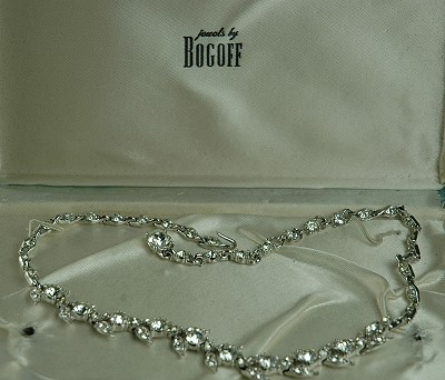 Bogoff real look rhinestone necklace amazing adornments for Bogoff vintage costume jewelry