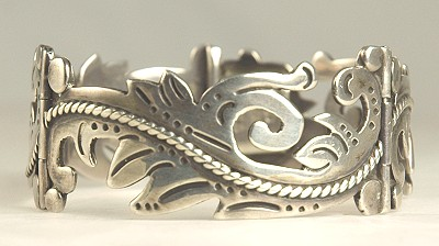 Vintage Mexican Silver Bracelet Signed Maricela Isidro Garcia Pina