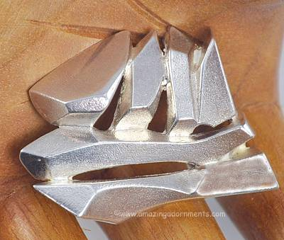 amazing adornments finnish modernist sterling silver ship